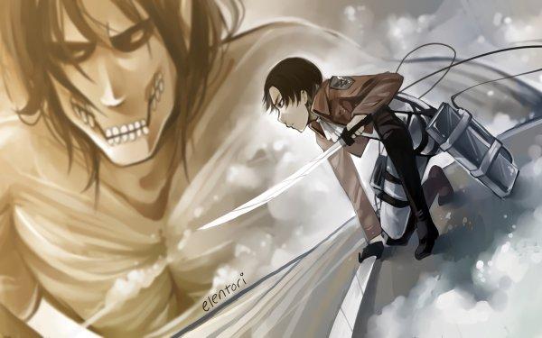 Anime Attack On Titan Shingeki No Kyojin Levi Ackerman Eren Yeager HD Wallpaper | Background Image