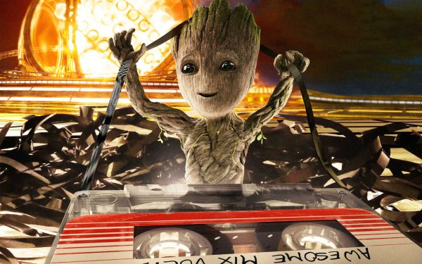 Movie Guardians of the Galaxy Vol. 2 Groot Cassette HD Wallpaper | Background Image