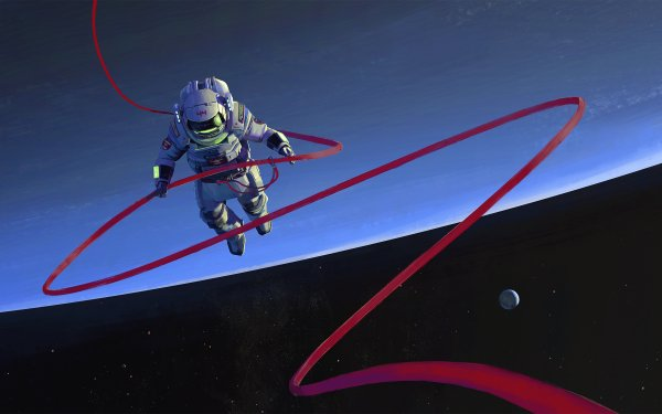 Sci Fi Astronaut Space Planet Stars Artistic HD Wallpaper | Background Image