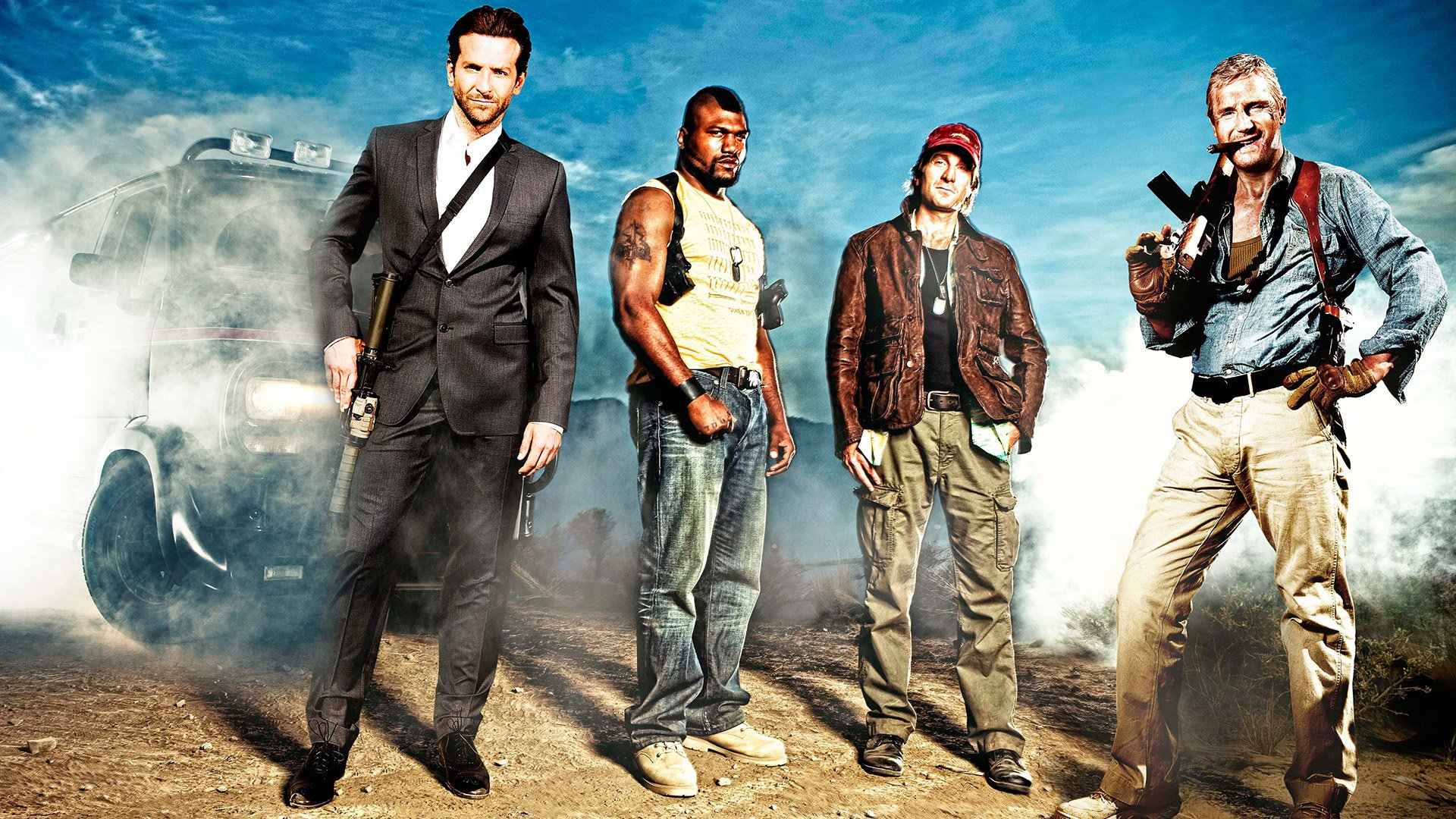 Movie - The A-Team  Quinton Jackson Liam Neeson Bradley Cooper Sharlto Copley Wallpaper