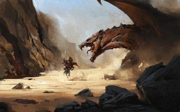 Fantasy Dragon Horse Knight HD Wallpaper   Background Image