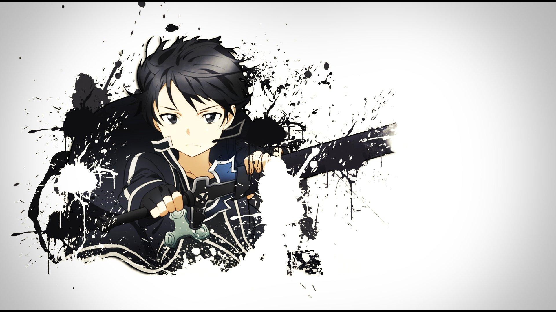 Kirito (Kirigaya Kazuto) Splatter HD Wallpaper | Background