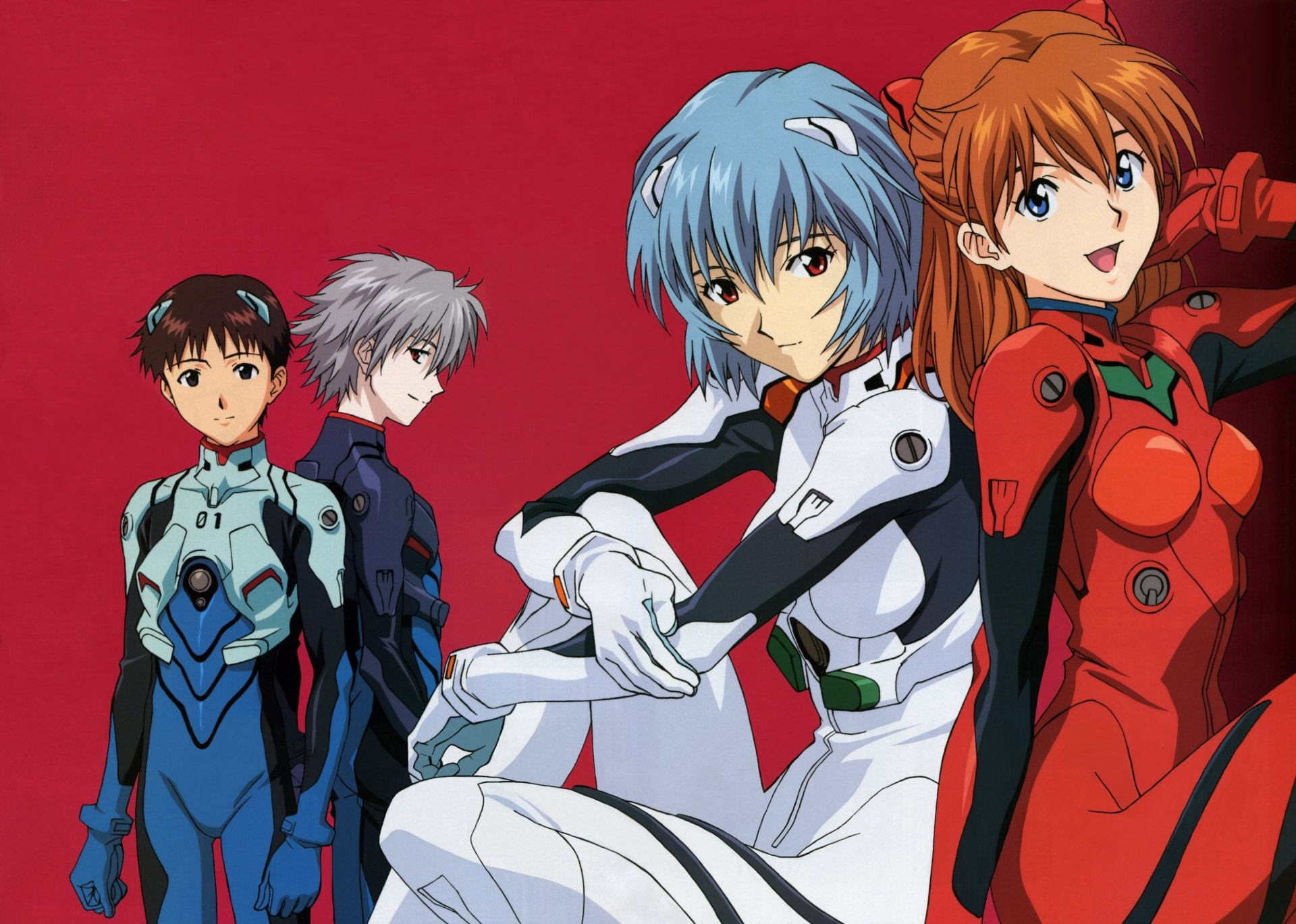 Anime - Neon Genesis Evangelion  Girl Anime Asuka Langley Sohryu Rei Ayanami Shinji Ikari Wallpaper