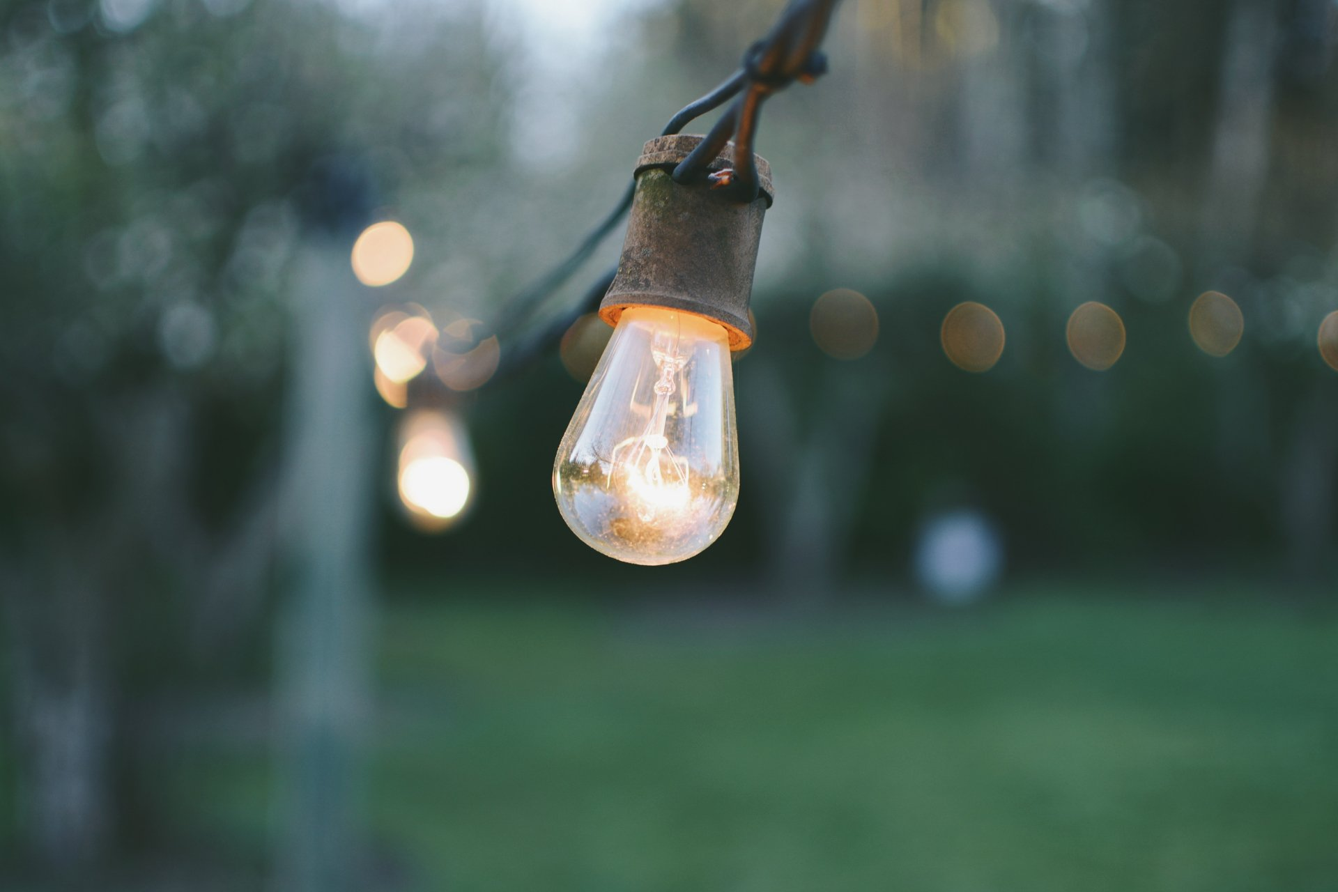 Man Made - Light Bulb  Depth Of Field Wallpaper
