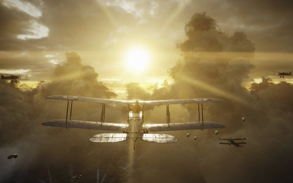 Video Game Battlefield 1 Battlefield Sun Warplane HD Wallpaper | Background Image