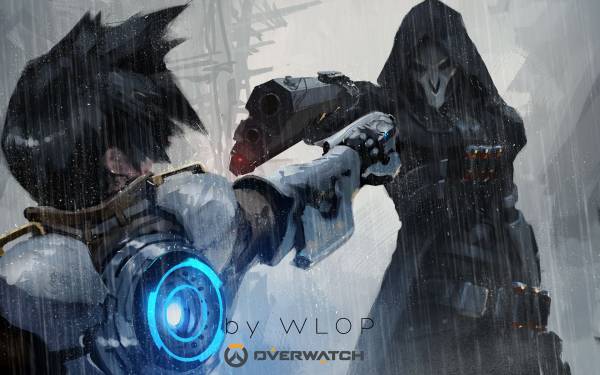 Video Game Overwatch Reaper Tracer HD Wallpaper | Background Image