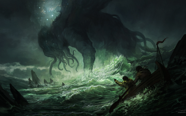 Fantasy Cthulhu HD Wallpaper   Background Image