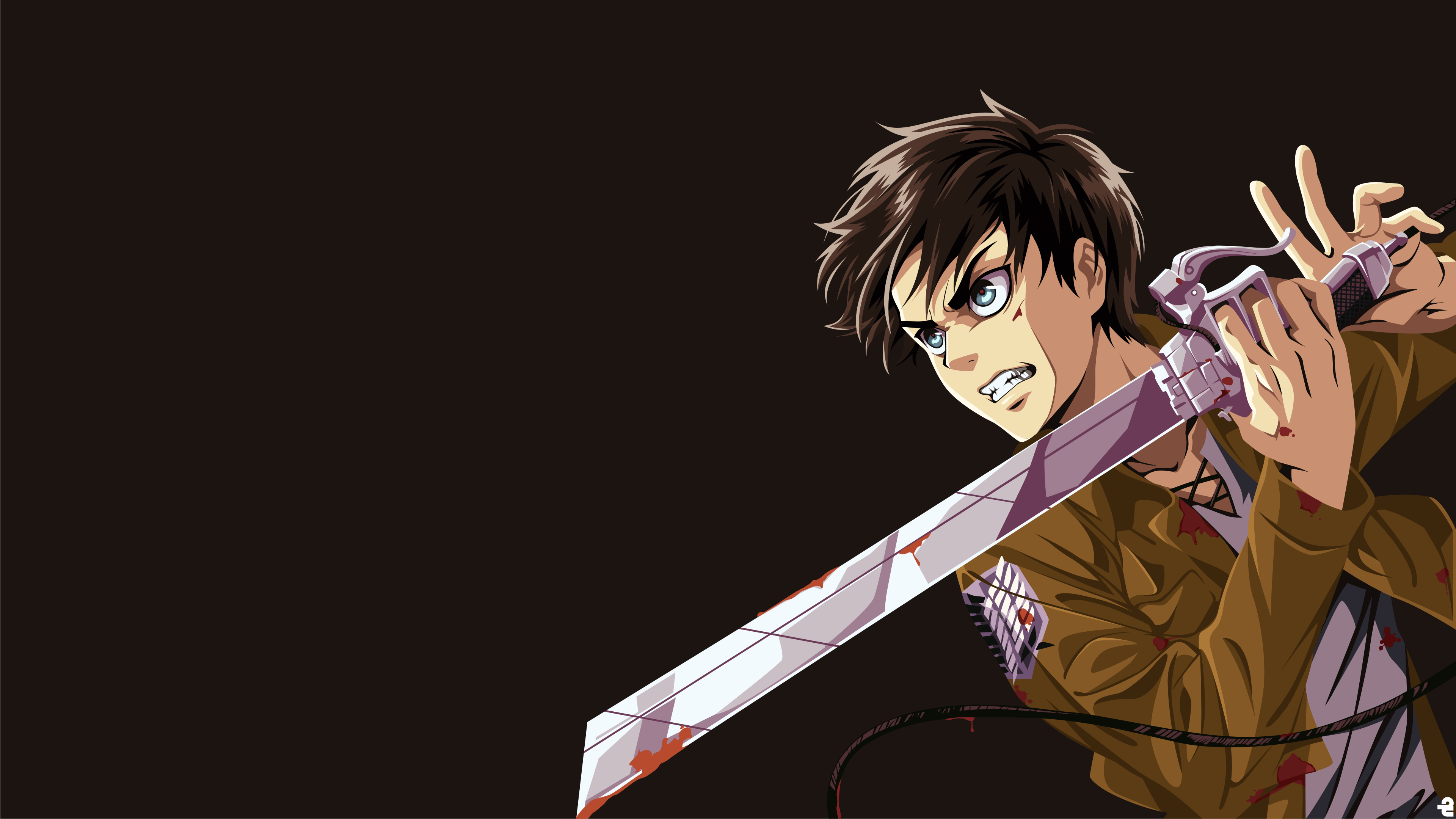 eren yeager shingeki no kyojin 4k ultra hd wallpaper and