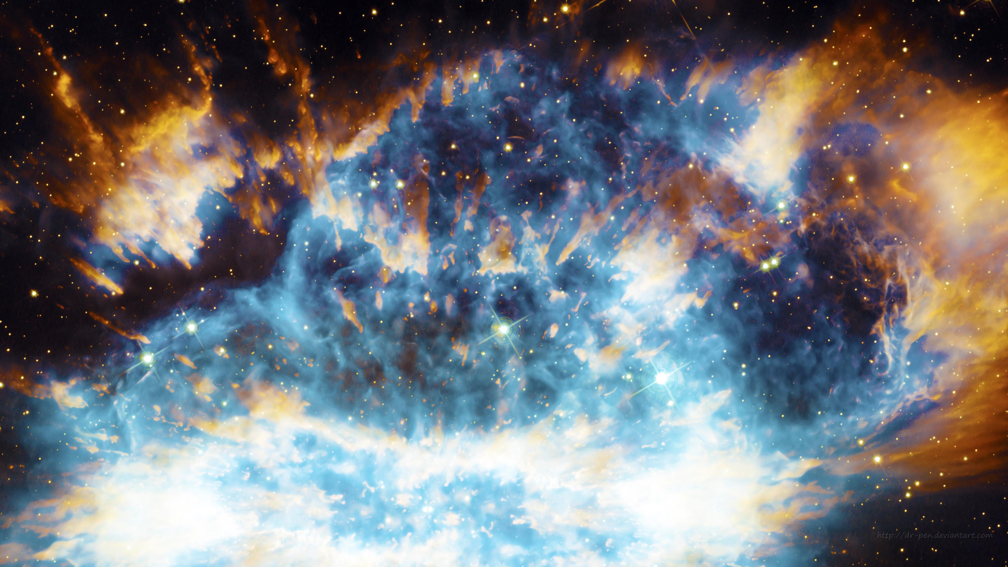 Stark blue nebula photomanipulated wallpaper 4k ultra hd wallpaper background image - Ultra 4k background images ...