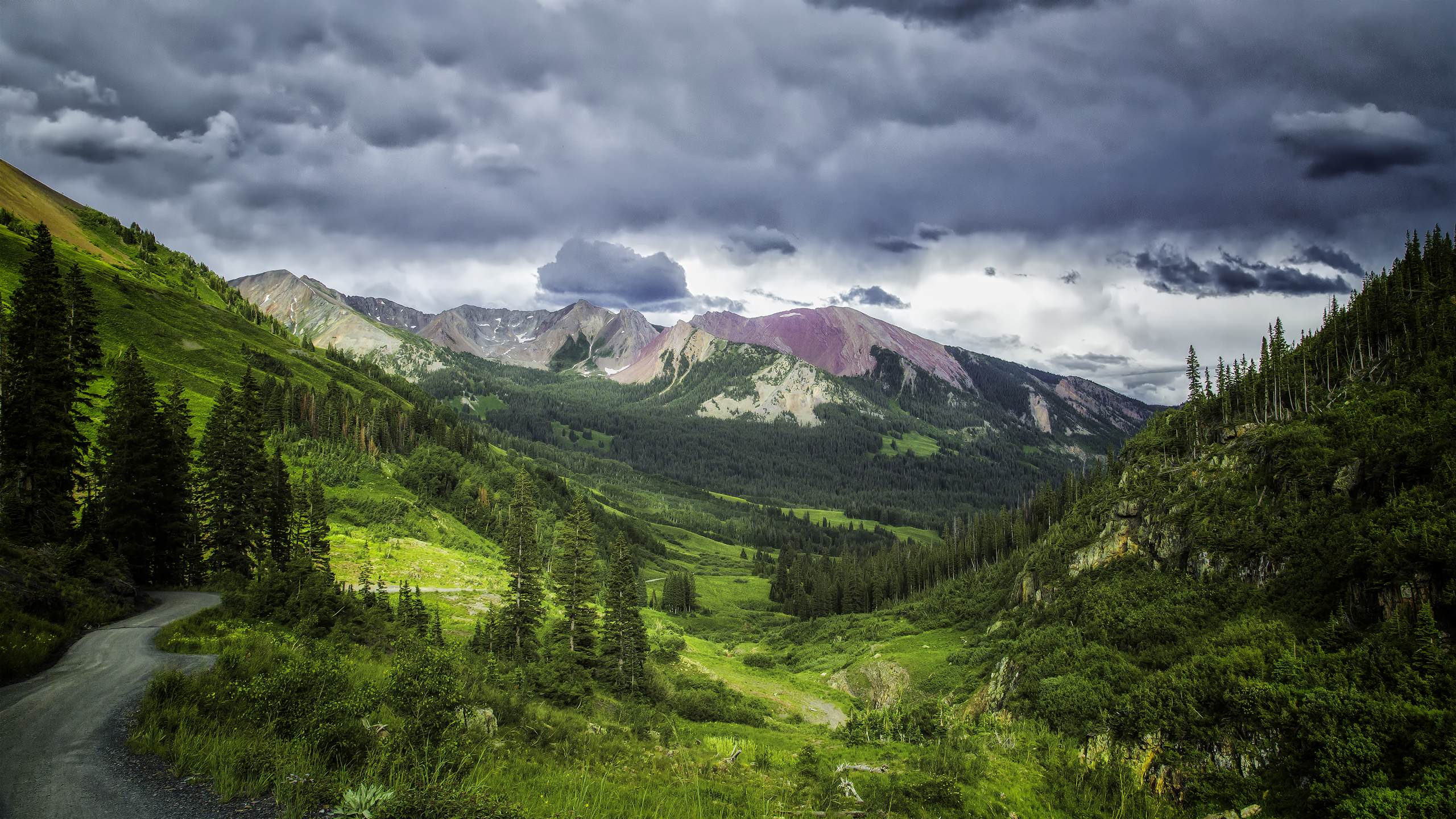Beautiful spring mountain landscape at