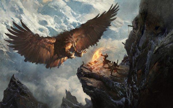 Fantaisie Oiseau Animaux Fantastique Aigle Guerrier Magicienne Magique Fond d'écran HD | Image