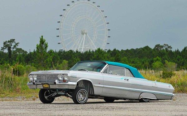 Vehicles Chevrolet Impala Convertible Chevrolet Chevrolet Impala Lowrider Classic Car HD Wallpaper | Background Image