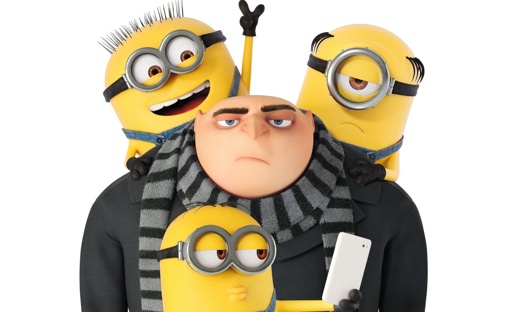 Movie - Despicable Me 3  Gru (Despicable Me) Stuart (Minions) Bob (Minions) Kevin (Minions) Wallpaper