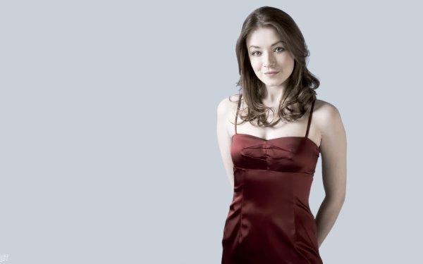 Women Sarah Bolger Actresses Ireland Actress Blue Eyes Red Dress Irish Smile HD Wallpaper | Background Image