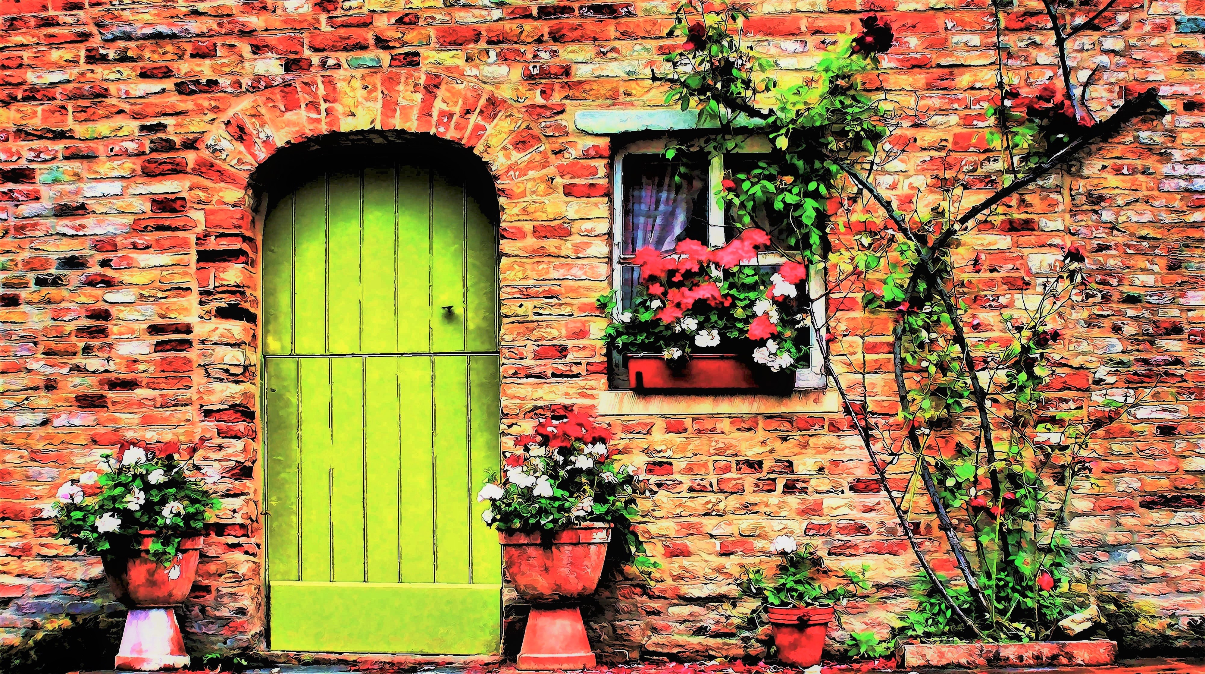 Colorful House 4k Ultra HD Wallpaper And Background Image