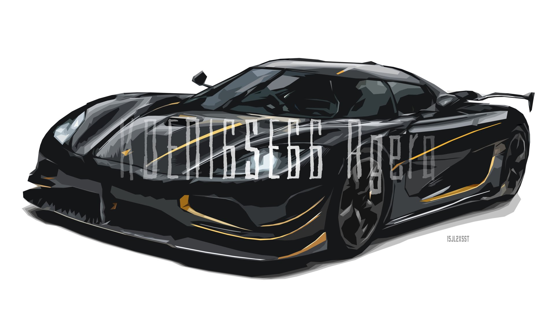 Vehicles - Koenigsegg Agera  Koenigsegg Sport Car Car Black Car Artistic Digital Art Vector Wallpaper