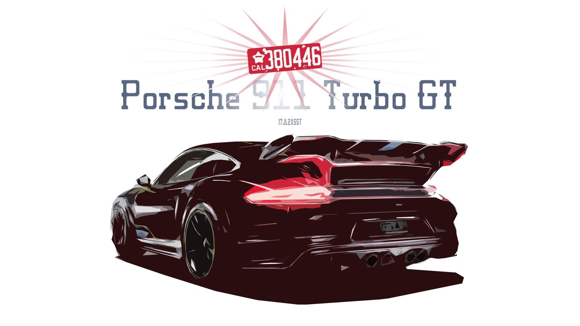 Vehicles - Porsche 911 Turbo  Porsche Porsche 911 Car Artistic Sport Car Race Car Digital Art Vector Wallpaper