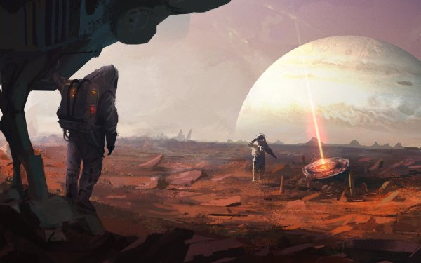 Sci Fi Astronaut Planet Beam Jupiter Space Suit HD Wallpaper | Background Image