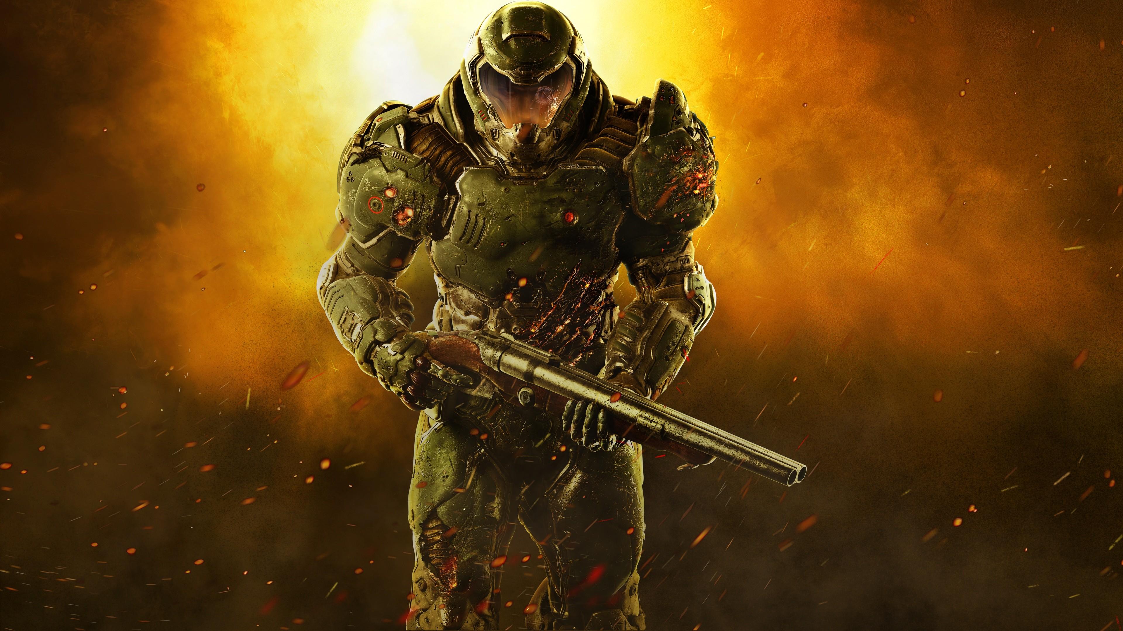 Doom 2016 4k Ultra Fondo De Pantalla Hd Fondo De