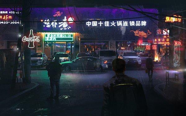 Sci Fi City China Cyberpunk Cityscape HD Wallpaper | Background Image