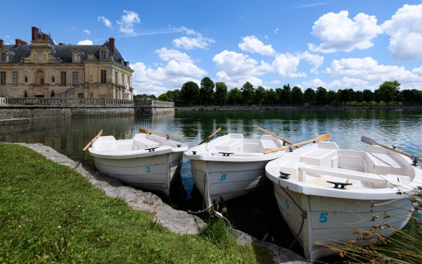 Vehicles Boat Row Boat Lake Palace of Fontainebleau France Museum HD Wallpaper | Background Image