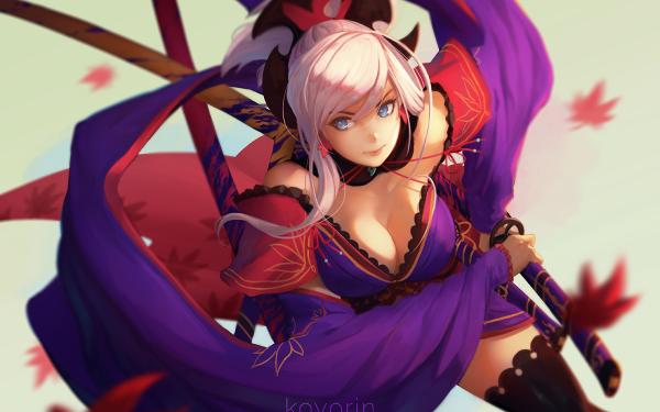 Anime Fate/Grand Order Fate Series Miyamoto Musashi HD Wallpaper | Background Image