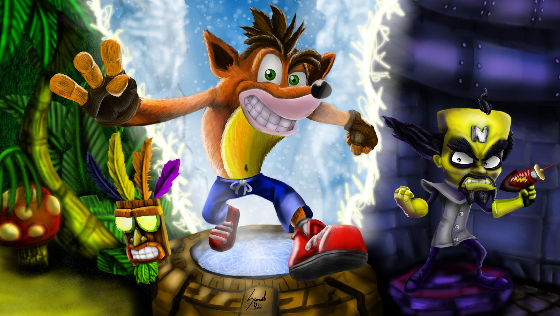 Crash Bandicoot N Sane Trilogy Artwork Hd Wallpaper Background