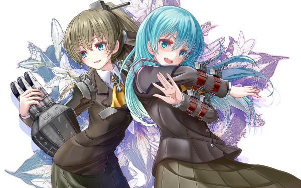 Anime Kantai Collection Kumano Suzuya HD Wallpaper | Background Image