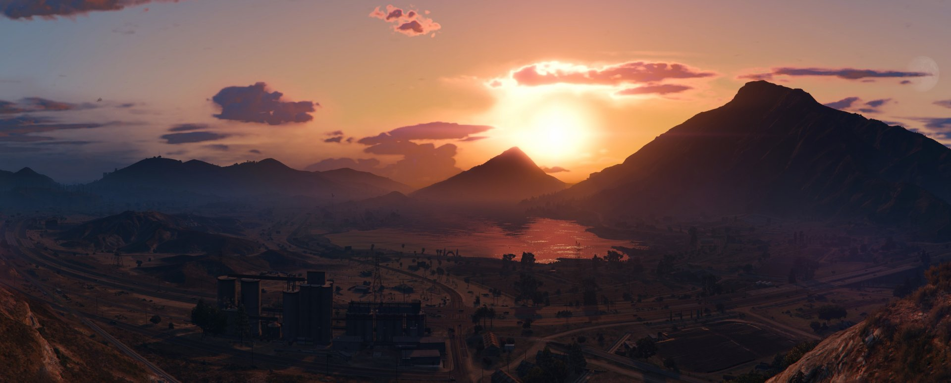 Video Game - Grand Theft Auto V  Mountain Sky Sun Cloud Wallpaper