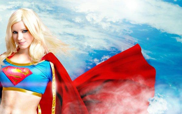 Women Cosplay Supergirl Blonde Blue Eyes HD Wallpaper   Background Image