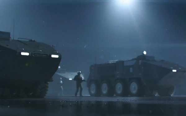 Military Soldier Armored Vehicle Night HD Wallpaper | Background Image
