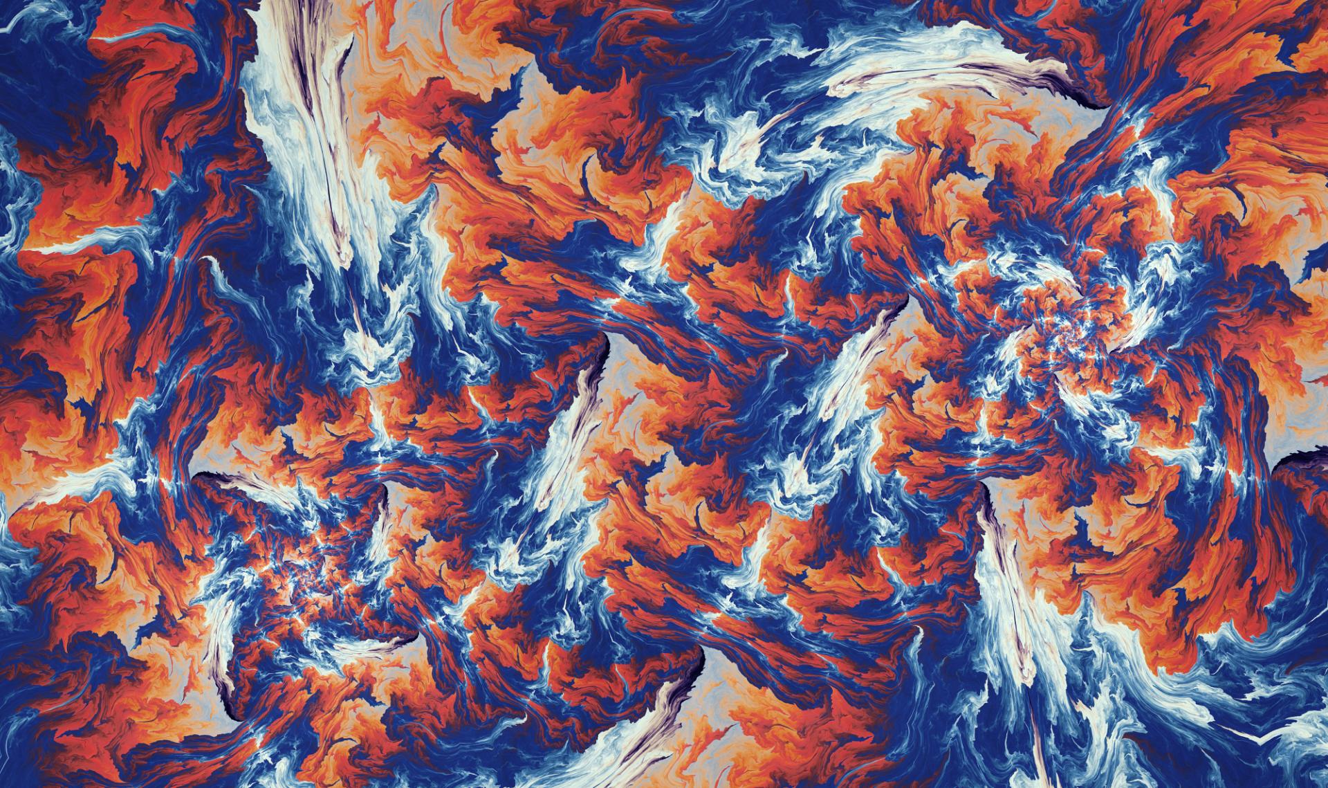 Abstract - Fractal  Smoke Artistic Wallpaper