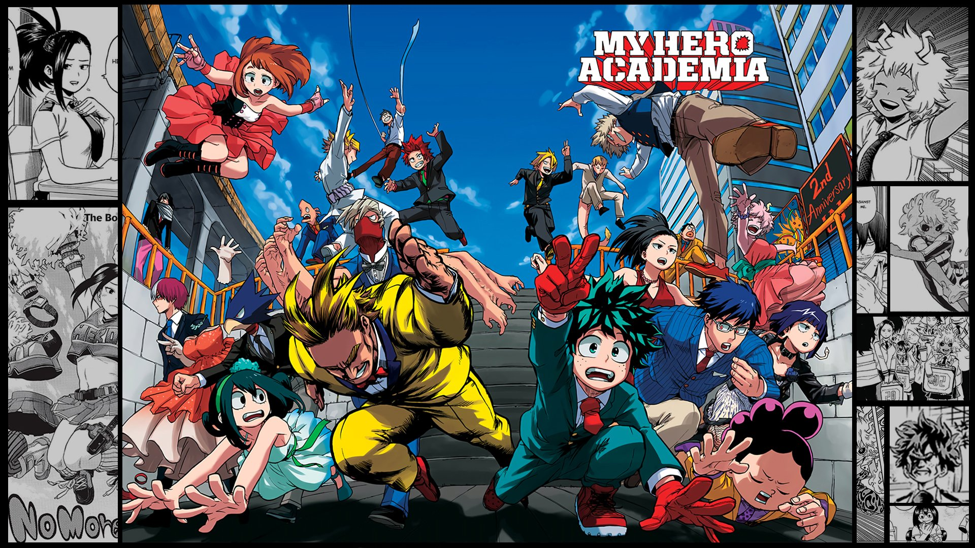 my hero academia manga coloured  u9ad8 u6e05 u58c1 u7eb8