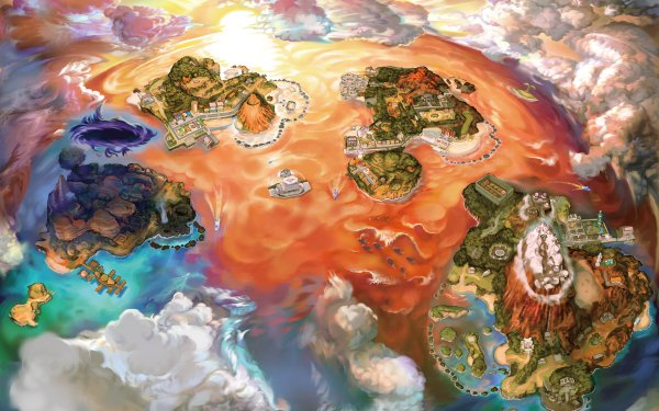 Video Game Pokémon Ultra Sun and Ultra Moon Pokémon Pokémon Ultra Sun Pokémon Ultra Moon Map HD Wallpaper | Background Image