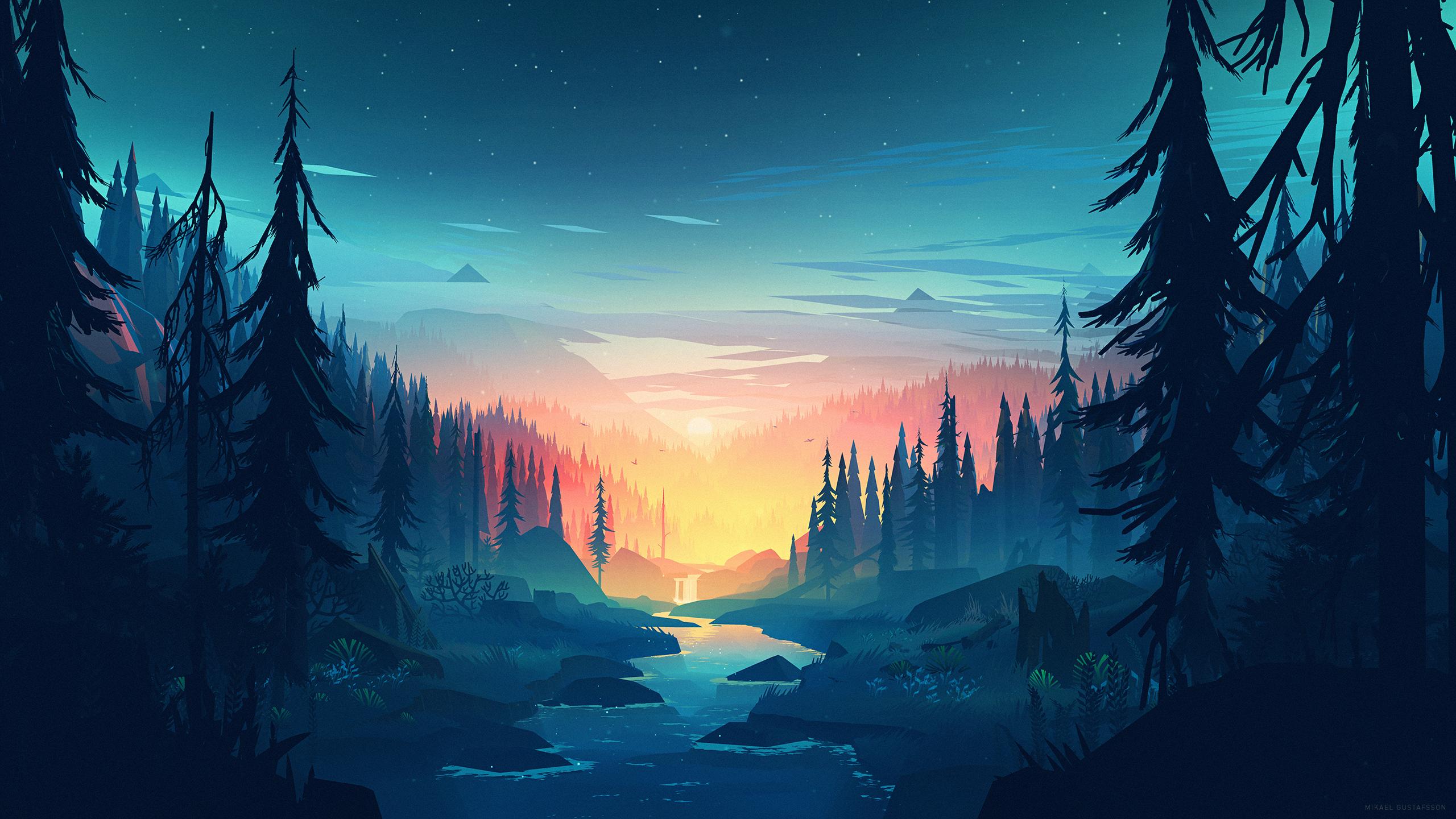 2560x1440 background wallpaper: Sunset HD Wallpaper