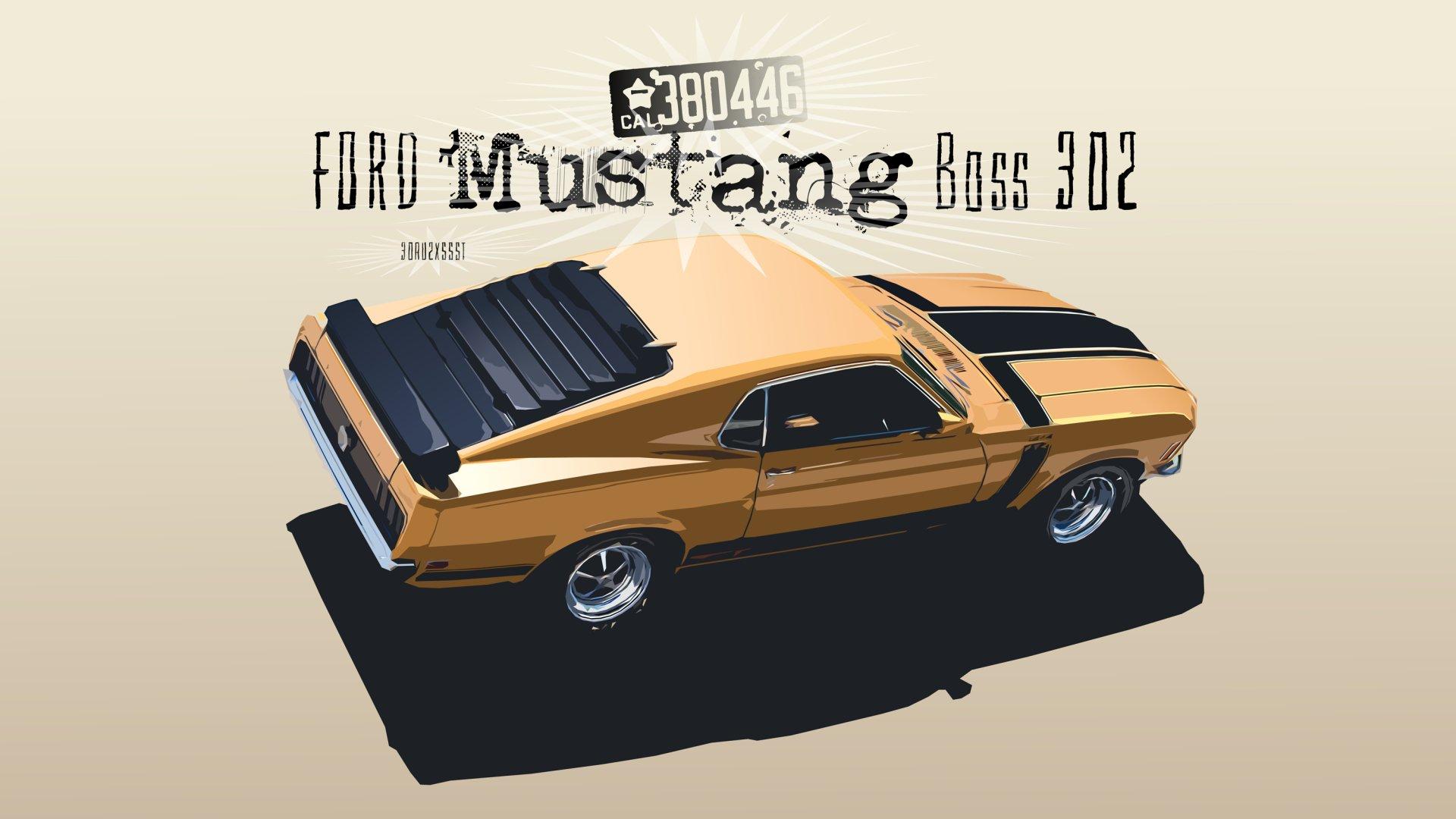 Vehicles - Ford Mustang Boss 302  Ford Ford Mustang Car Vehicle Artistic Digital Art Sport Car Race Car Wallpaper