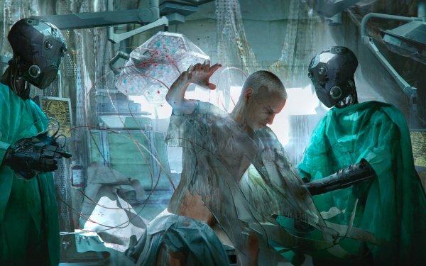 Sci Fi Robot Hospital HD Wallpaper   Background Image