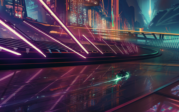 Sci Fi Futuristic Race Vehicle Bike Tron Light Reflection HD Wallpaper | Background Image