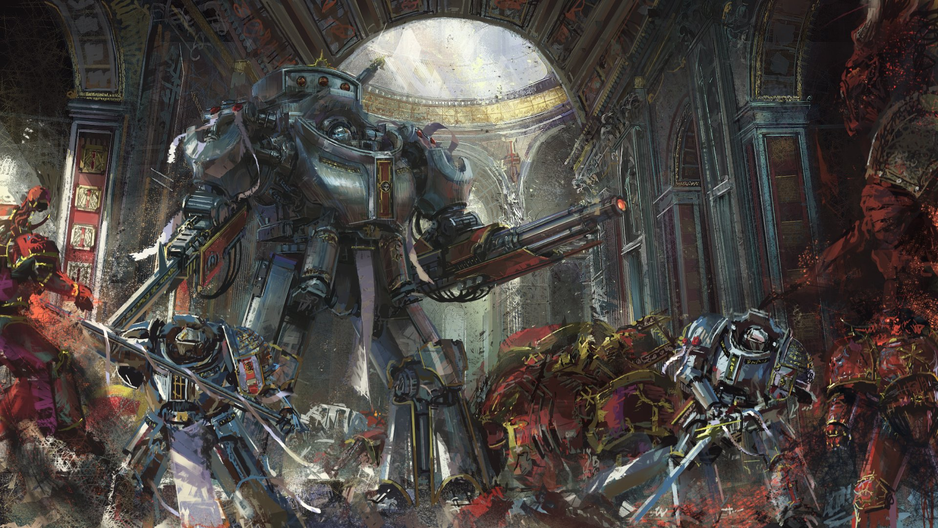 Video Game - Warhammer 40K  Space Marine Warrior Battle Sword Armor Robot Wallpaper