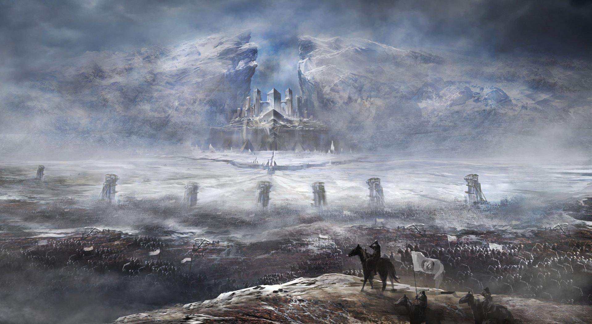 Fantasy - Battle  Army Warrior Castle Landscape Wallpaper