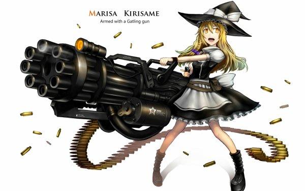 Anime Touhou Marisa Kirisame Gun HD Wallpaper | Background Image