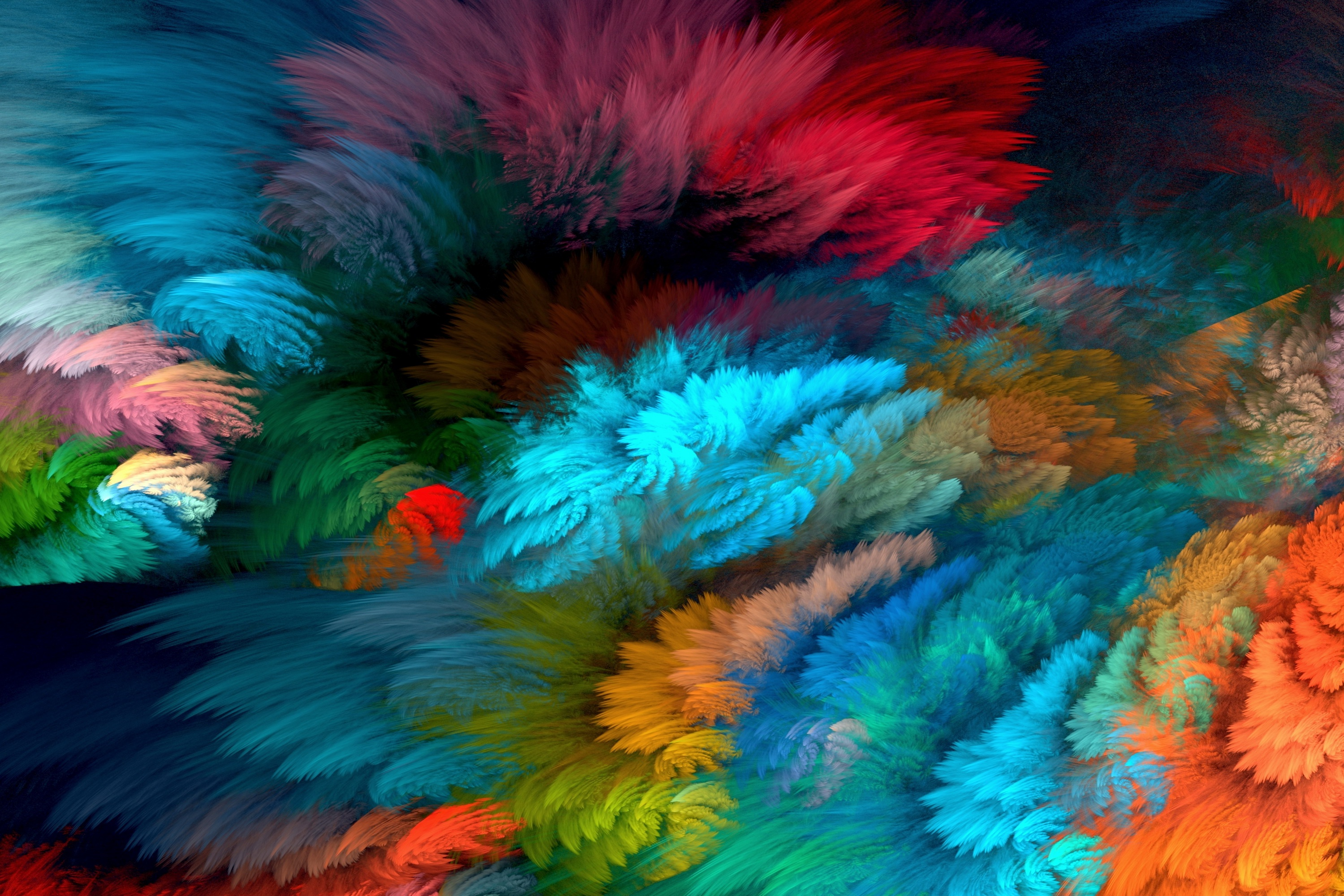 Abstract Colors Flashy Bird 4k: Colors HD Wallpaper