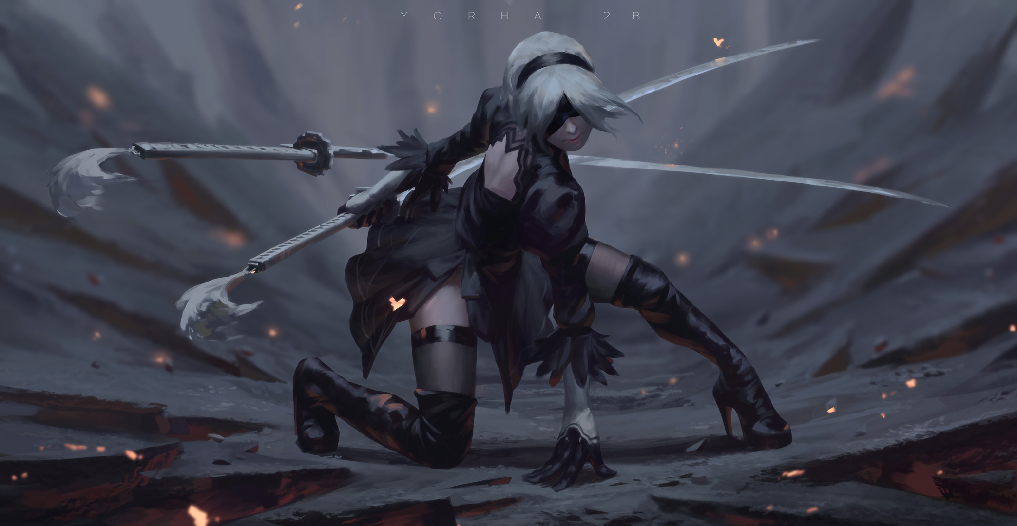 Nier Automata Fan Art Wallpaper 01 1920x1080: NieR: Automata HD Wallpaper