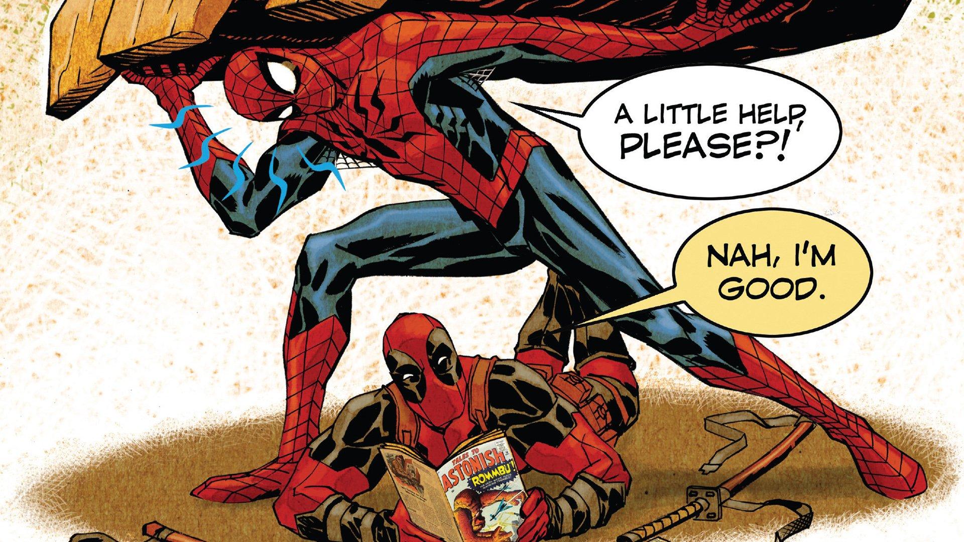 Spiderman And Deadpool Hd Wallpaper Hintergrund 1920x1080 Id