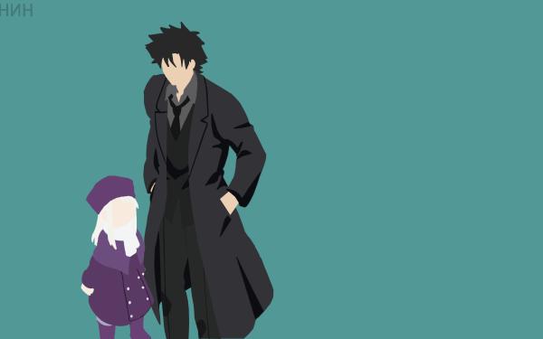Anime Fate/Zero Fate Series Minimalist Kiritsugu Emiya Illyasviel Von Einzbern Fate Black Hair White Hair Coat Tie Hat HD Wallpaper   Background Image