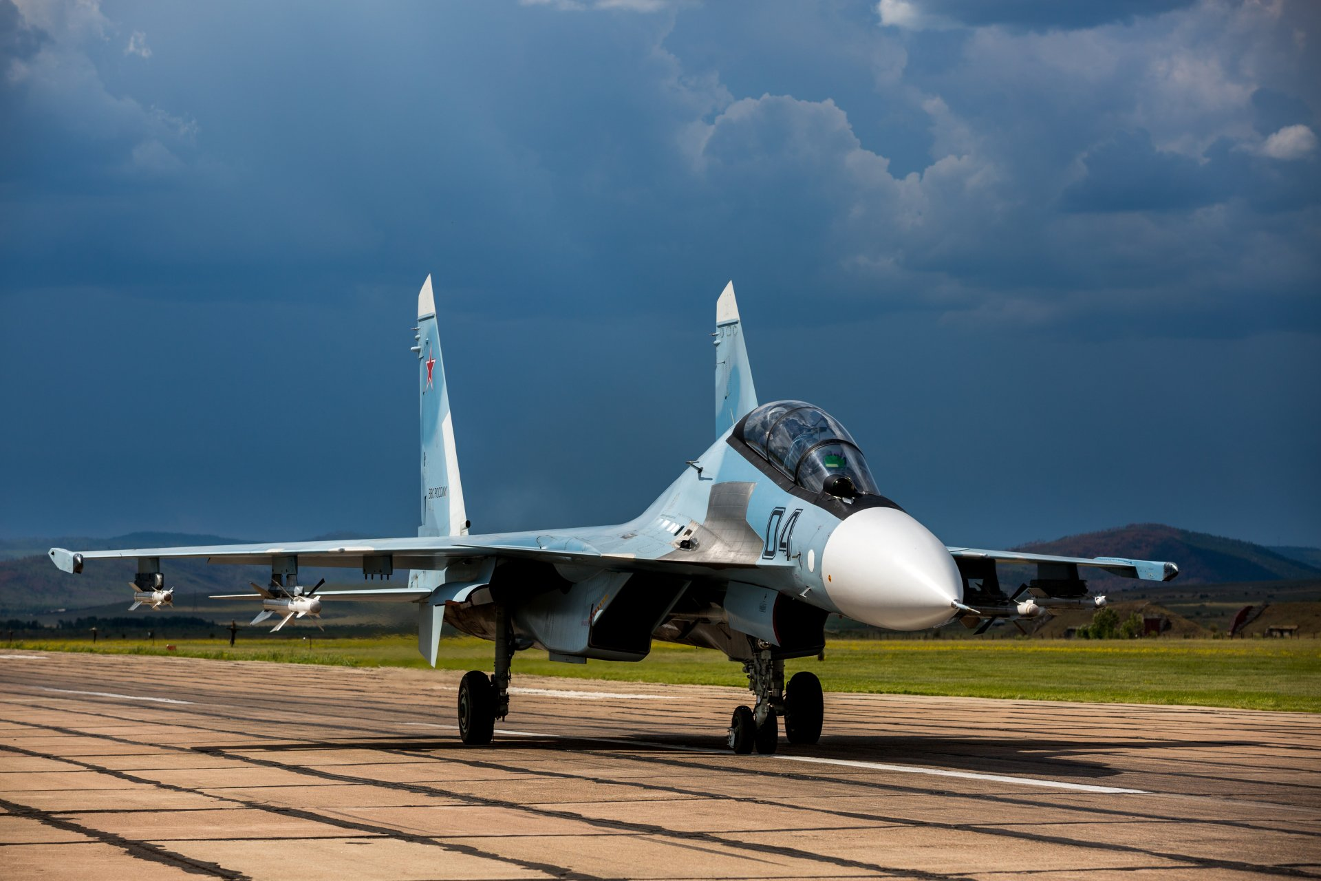 Military - Sukhoi Su-30  Jet Fighter Aircraft Warplane Wallpaper