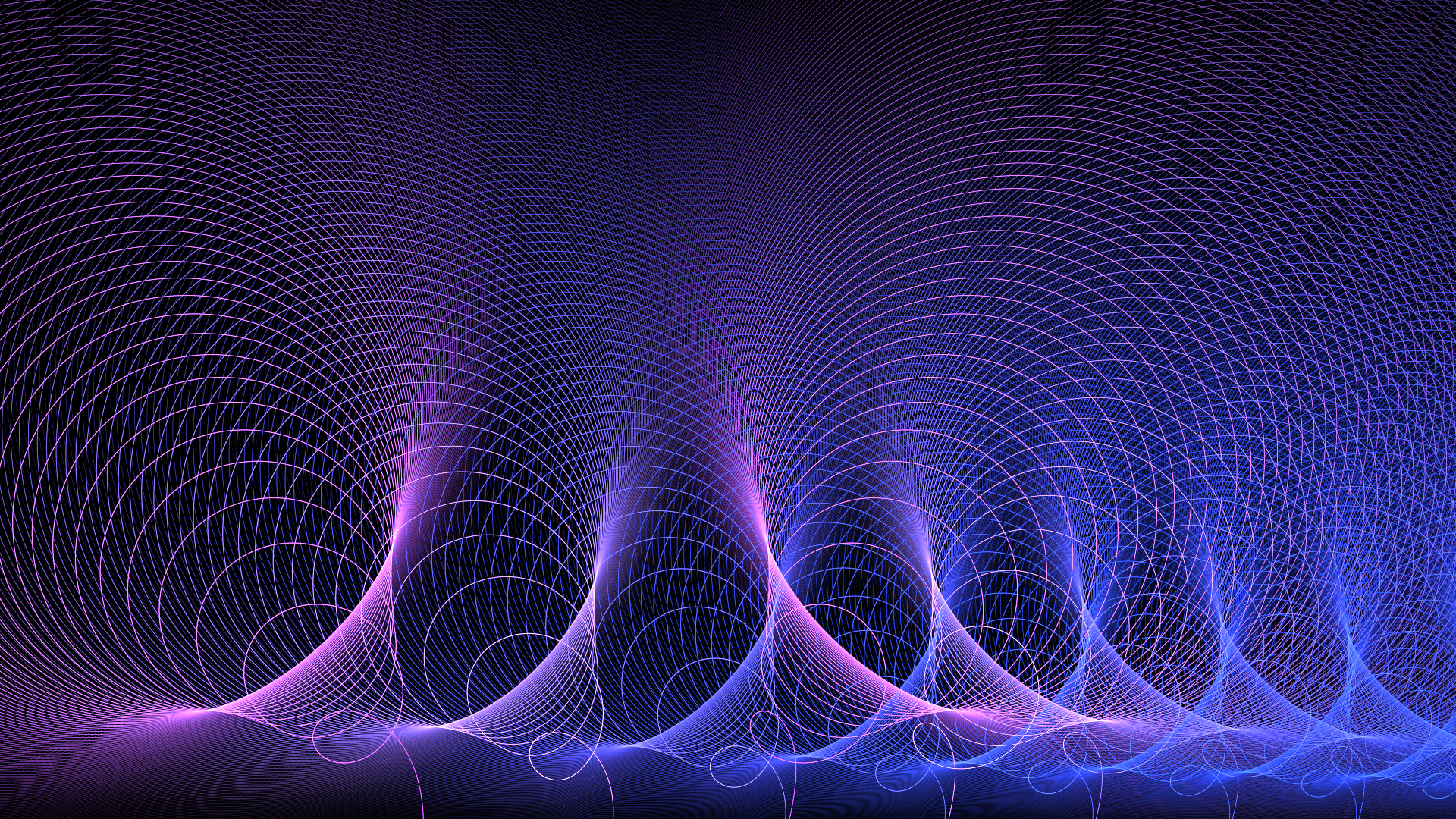 Abstract - Purple  Wave Artistic Fractal Science Energy Wallpaper