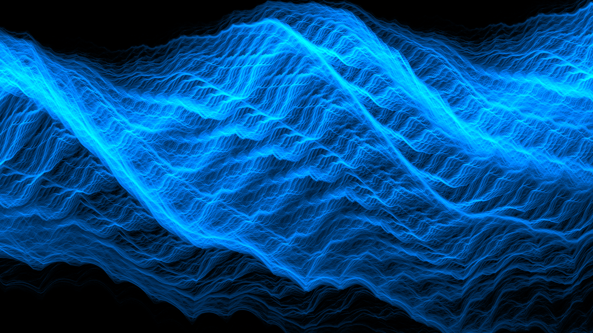 Abstract - Fractal  Wave Blue Wallpaper