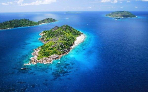 Tierra/Naturaleza Isla Océano Sea Seychelles Horizon Fondo de pantalla HD | Fondo de Escritorio