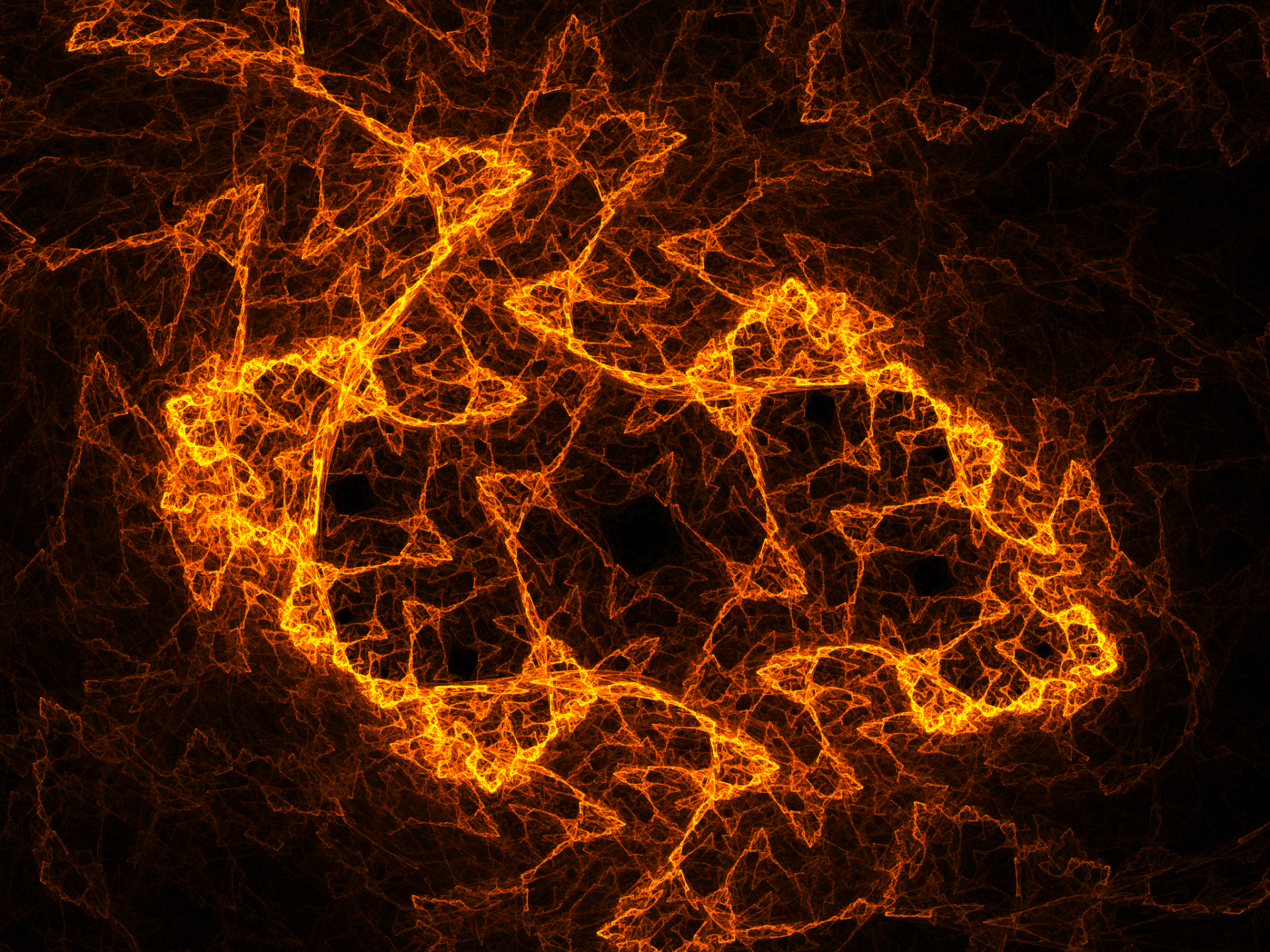 Abstract - Fractal  Abstract Apophysis (software) Orange Energy Wallpaper